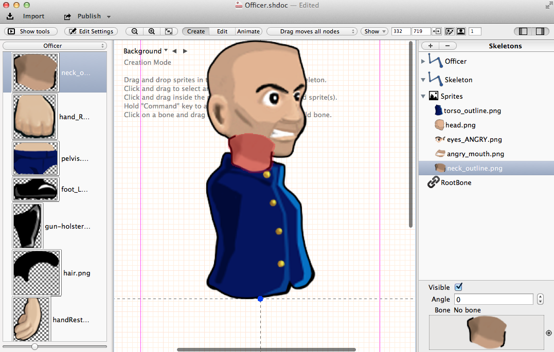 how to create sprites for games